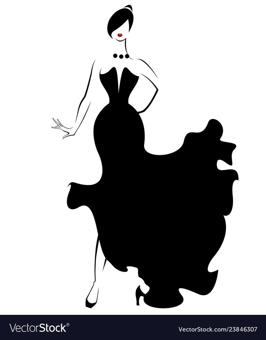 Women silhouette icon on white.
