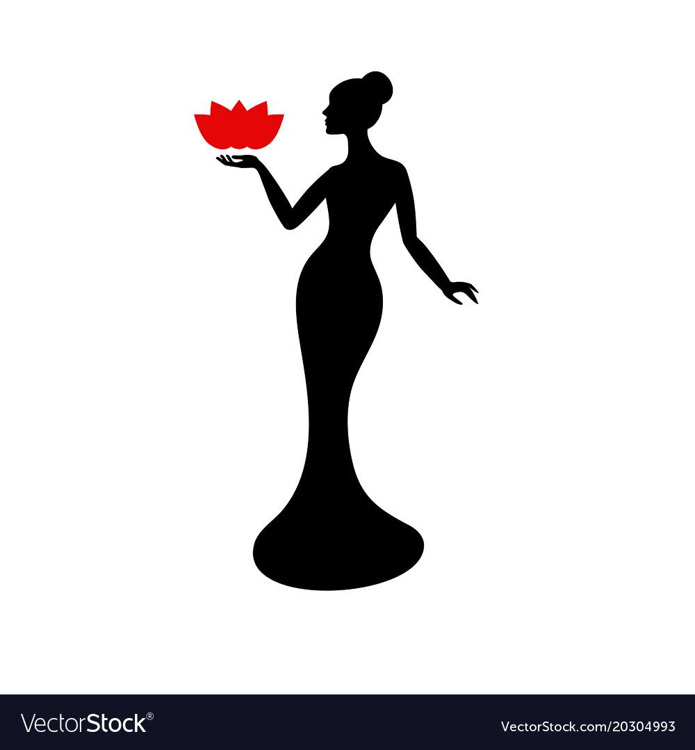 Beautiful lady silhouette beautiful lady.