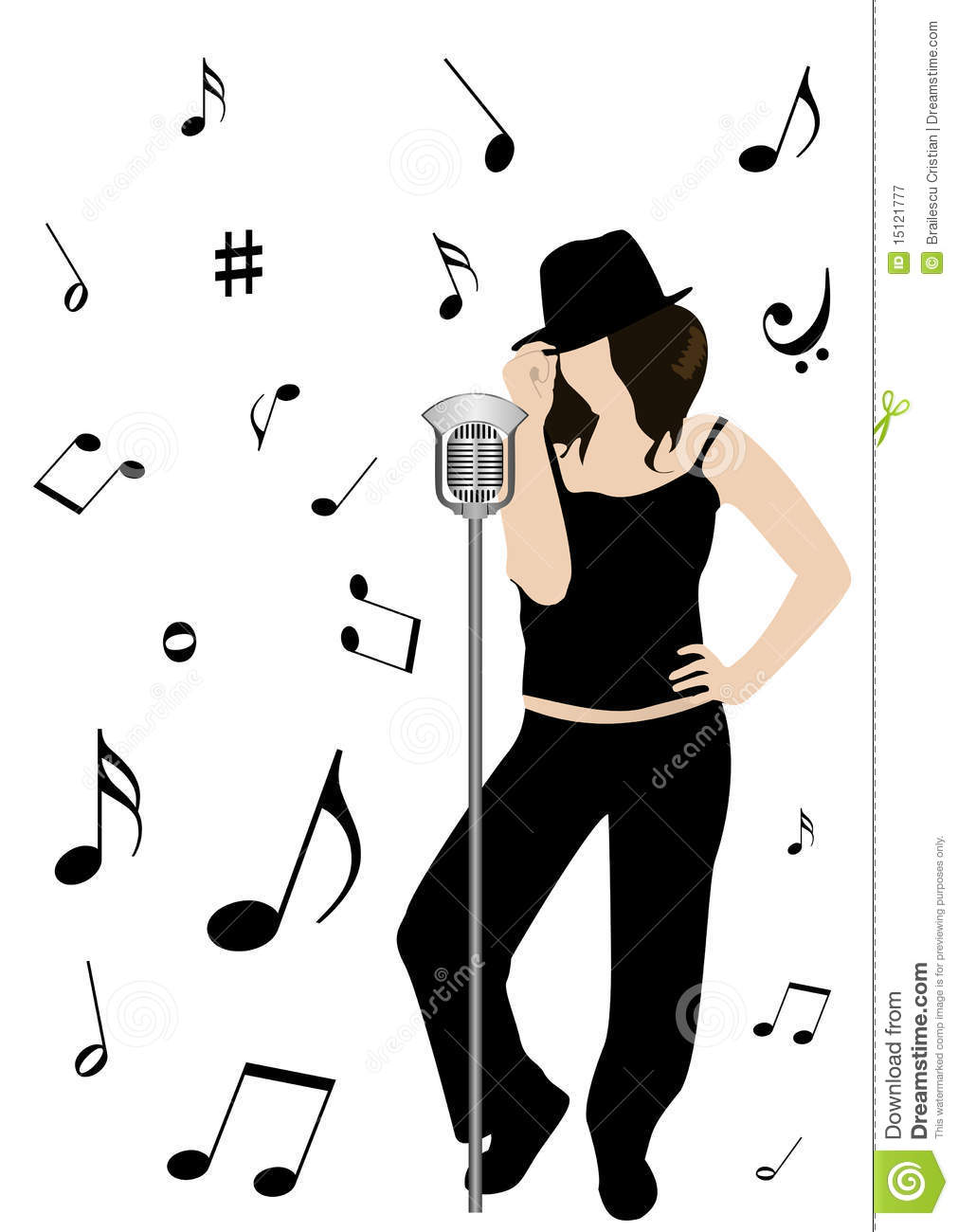 Lady Singing Clipart.