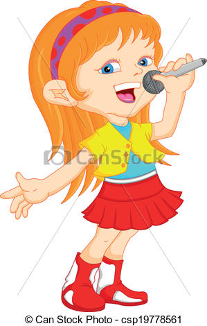 Showing post & media for Cartoon lady singing clip art.