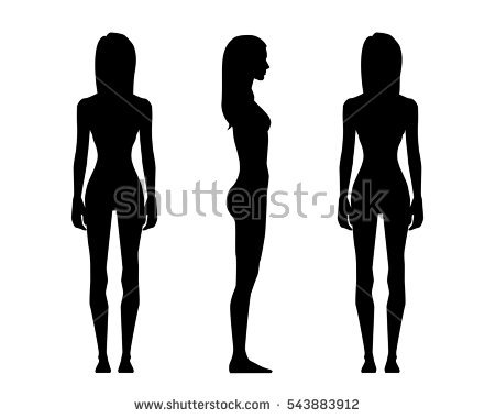 Body Silhouette Stock Images, Royalty.