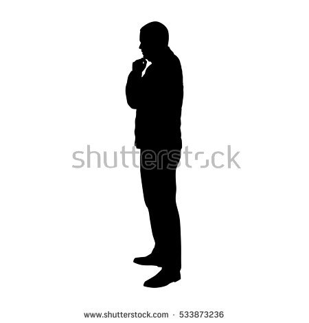 Man Silhouette Standing Stock Images, Royalty.