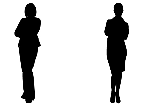 Perfect Lady Silhouette Vectors for Business Vector Free Download.