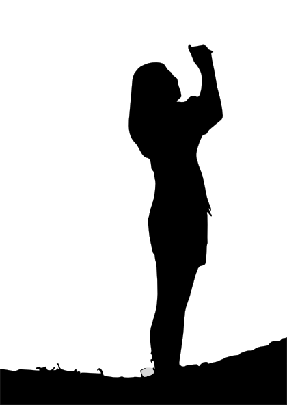 Woman Silhouette Clip Art at Clker.com.
