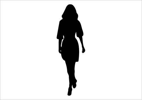 Walking Women Silhouette Graphics Silhouette Graphics.