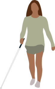 Blind Woman Walking Clip Art at Clker.com.
