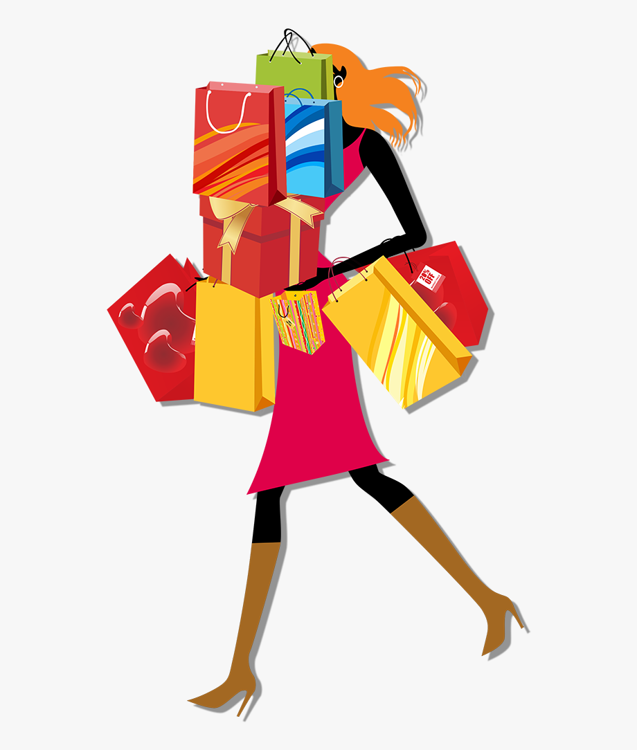 Shopping Bag Woman Clip Art.