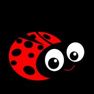 Cute Cartoon Ladybug Clipart.