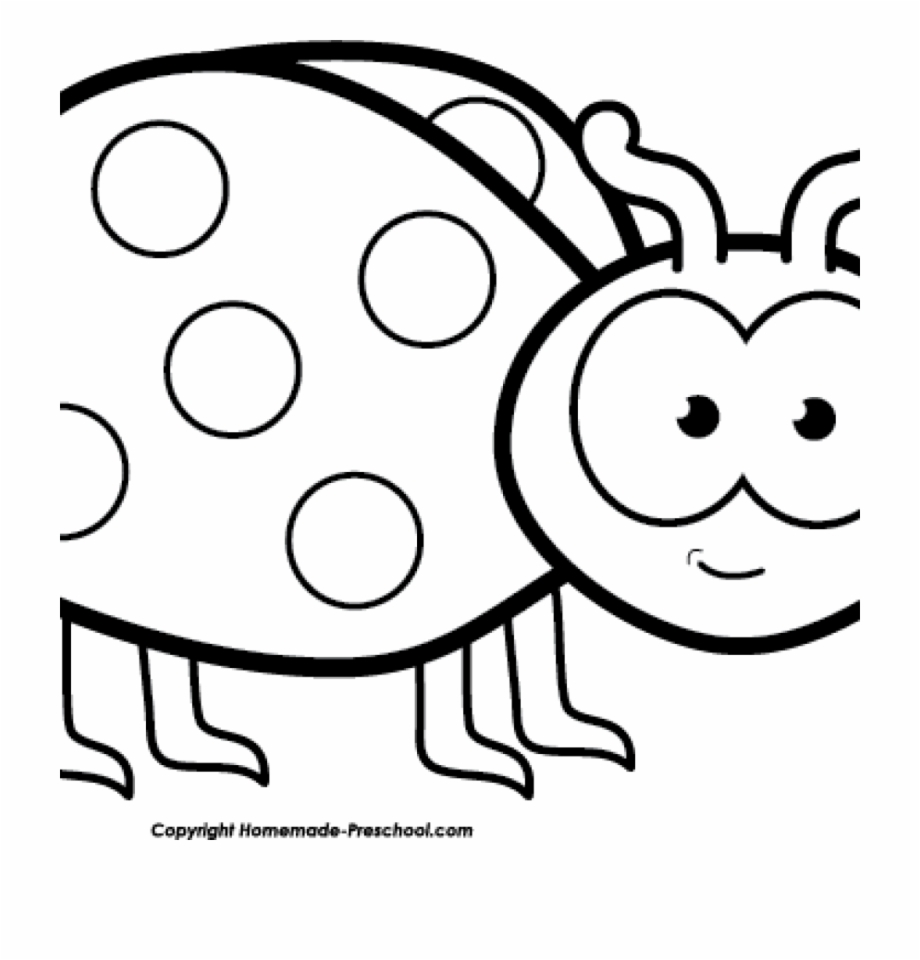 Free Clipart Images Black And White Free Ladybug Clipart.