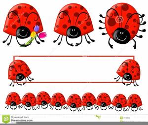 Free Ladybug Border Clipart.