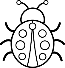 Image result for ladybug clipart outline simple.