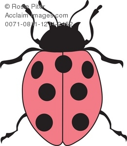 Royalty Free Clipart Illustration of a Pink Ladybug.