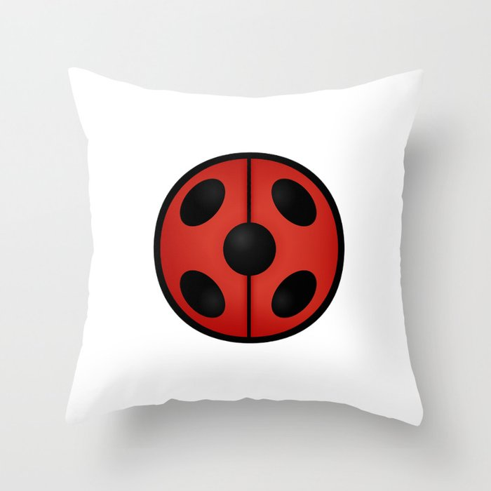 Miraculous Ladybug Logo Throw Pillow by asticou.