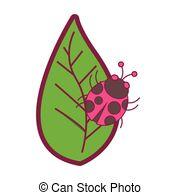 Ladybug on leaf Vector Clip Art Illustrations. 1,097 Ladybug on leaf.