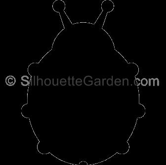 Silhouette Ladybug.