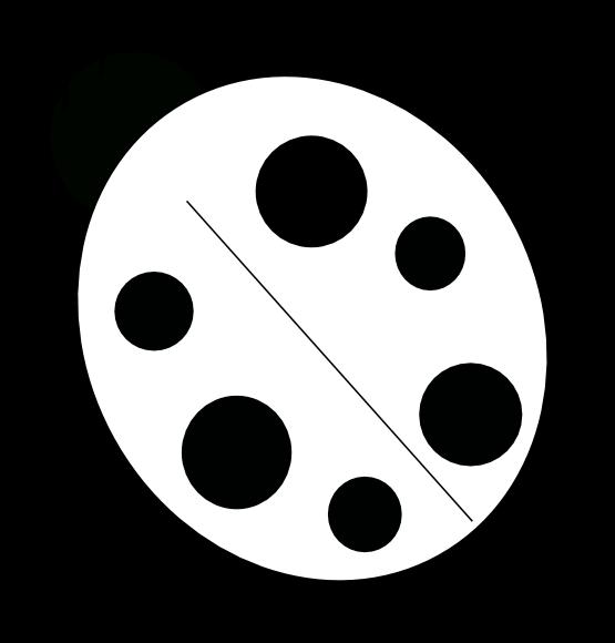 Ladybug Clipart Black And White.