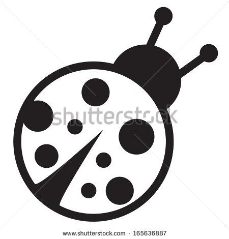Ladybug Clipart Black Background.