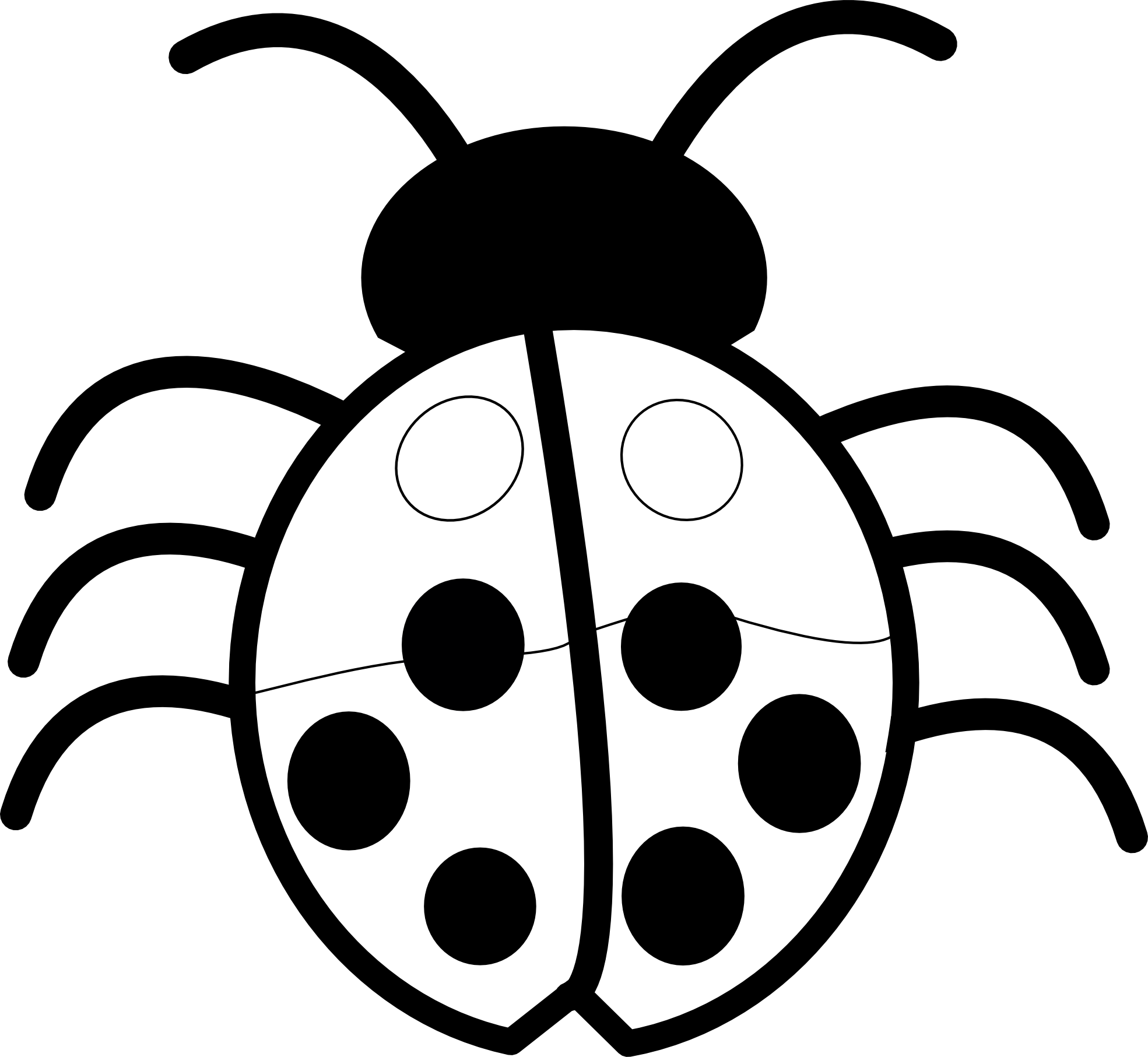 Ladybug Black And White Clipart image tips.