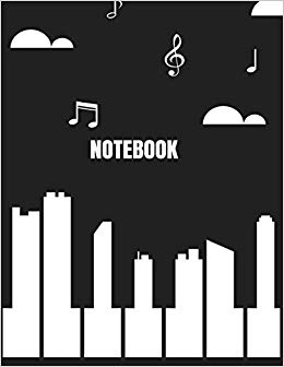 Amazon.com: Notebook: piano city cover (8.5 x 11) inches 110.