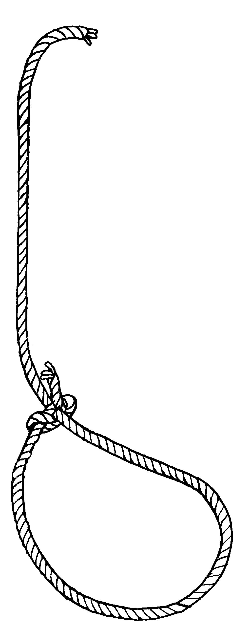 Lasso Knot Clipart.