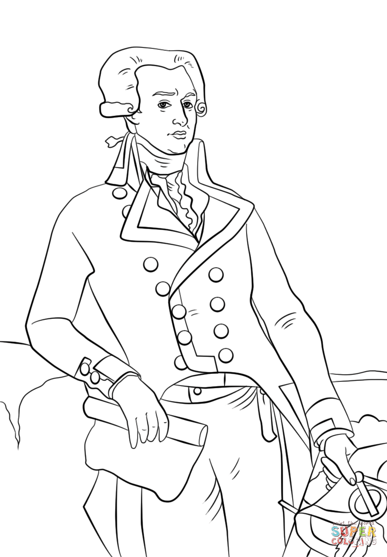 Marquis de Lafayette coloring page.