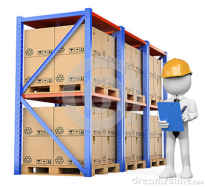 Warehouse Manager Stock Illustrations.