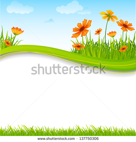 Fresh Spring Easter Borders Isolated On Stock Foto 45830698.