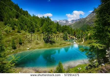 Amazing View Five Coloured Pool The Stock Photo 439504369.