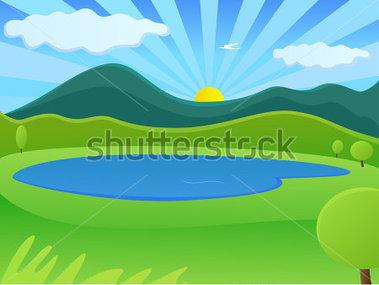 Clipart lago.
