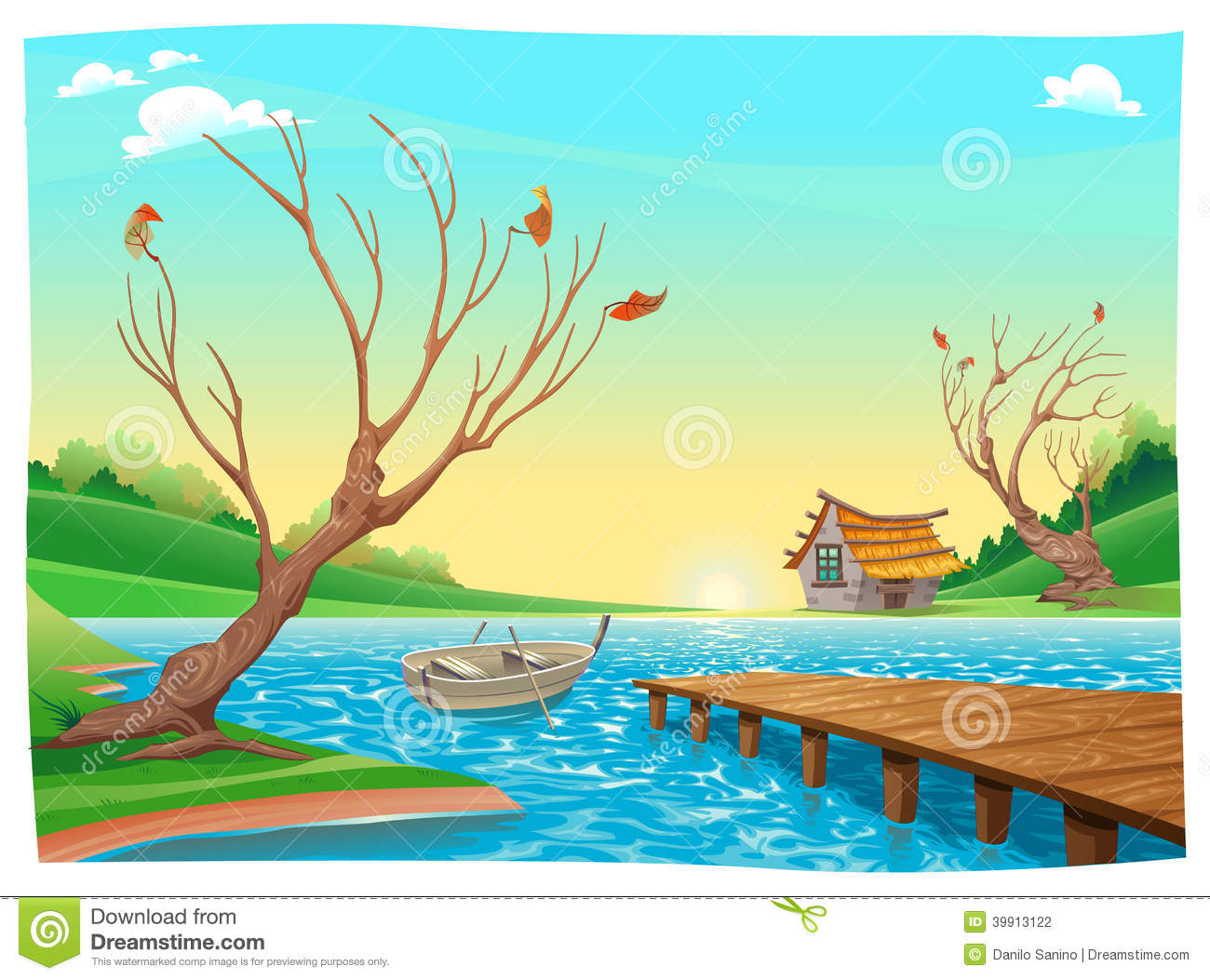 Lake Boats Clipart