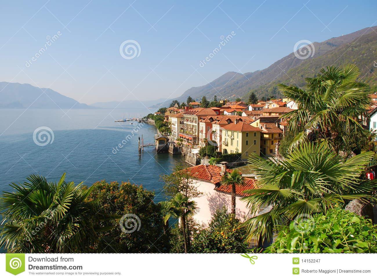 Cannero Riviera At Lago Maggiore, Italy Royalty Free Stock.