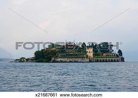 Stock Photography of Isola Bella, Borromean Islands, Lago Maggiore.