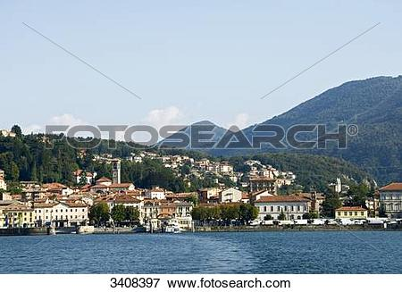 Picture of View of Luino and Lago Maggiore, Lombardy, Italy.