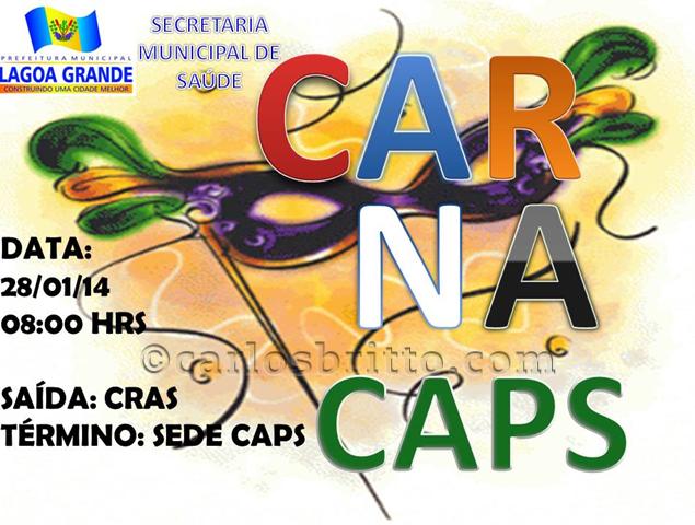 Lagoa Grande: Carnaval do CAPS vai integrar pacientes e comunidade.
