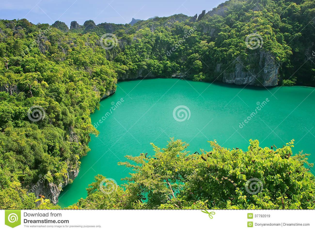 Thale Nai Lagoon, Mae Koh Island, Ang Thong National Marine Park.