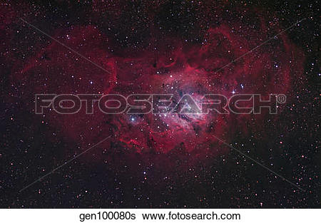 Stock Images of The Lagoon Nebula gen100080s.