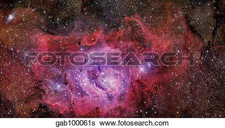 Stock Images of NGC 6523, the Lagoon Nebula. gab100061s.