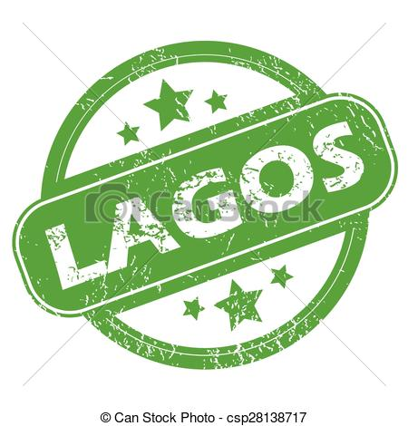Vector Clip Art of Lagos green stamp.