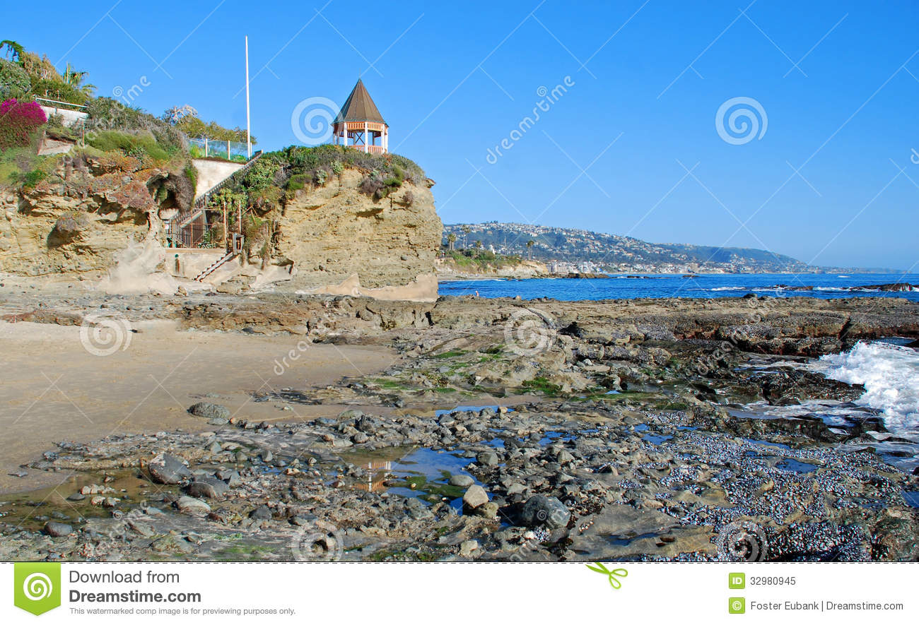 South End Of Shaws Cove, Laguna Beach.California. Royalty Free.