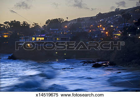 Stock Image of Laguna Beach evening x14519675.