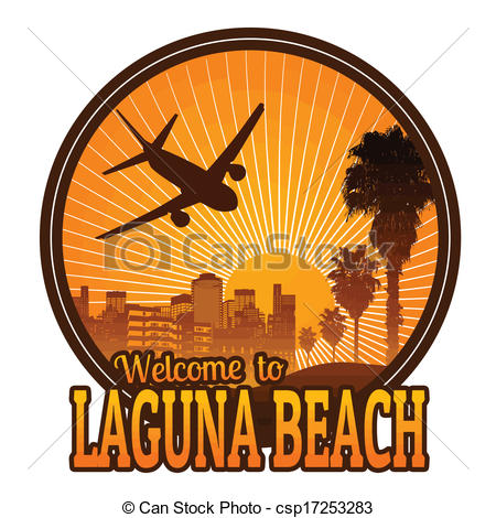Vector of Welcome to Laguna Beach label or stamp.