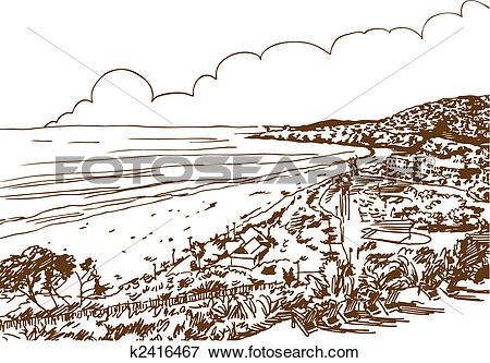 Clip Art of Laguna Beach k2416467.