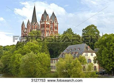 Stock Photo of Limburg cathedral, Limburg an der Lahn, Germany.