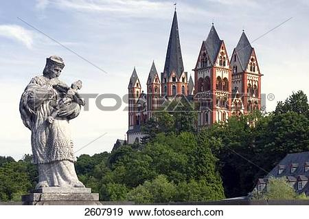 Stock Photograph of Low angle view of church, Limburg An Der Lahn.