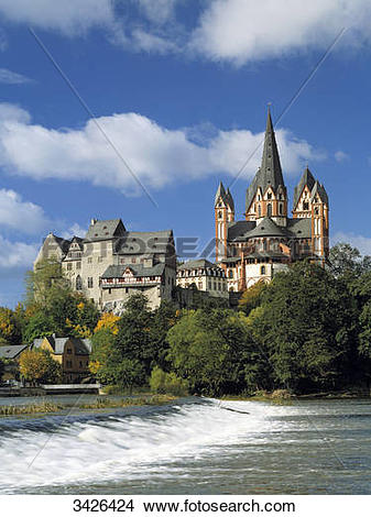 Stock Photo of Limburg Cathedral, Limburg an der Lahn, Hesse.