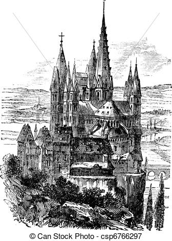 Vectors Illustration of Cathedral of St. George, Limburg.