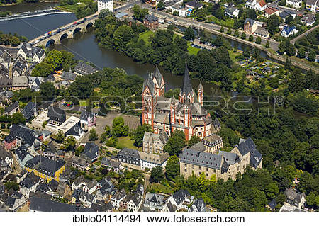 Stock Photo of View over the historic centre of Limburg with its.