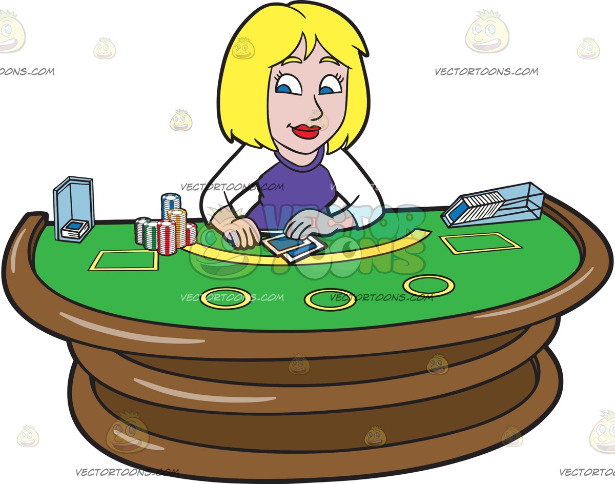A Laid Back Woman Playing Poker » Clipart Station.