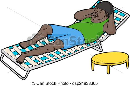 Laid back clipart.