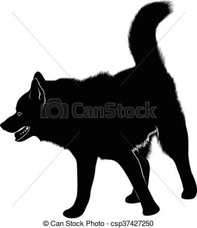 Clipart Vector of laika. Siberian Laika. Husky dog pet favorite of.